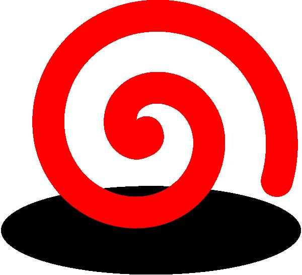600x546 Fat Red Spiral Clip Art