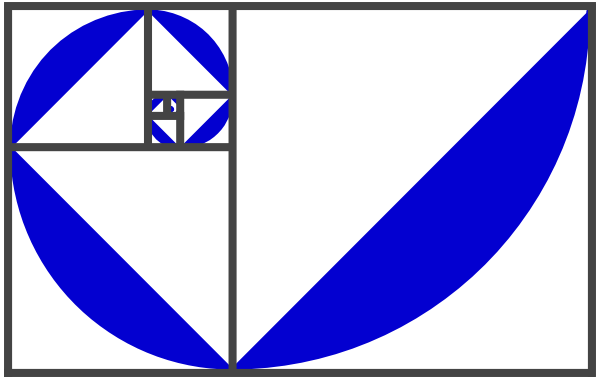 600x381 Fibonacci Spiral Bluepurple Png, Svg Clip Art For Web