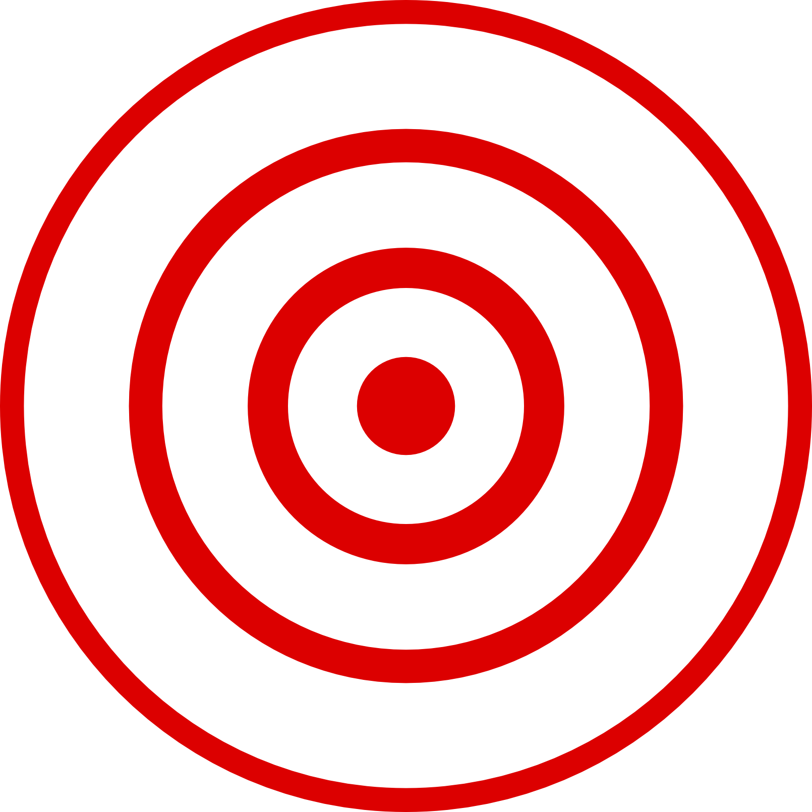 1610x1610 Free Bullseye Clipart Image