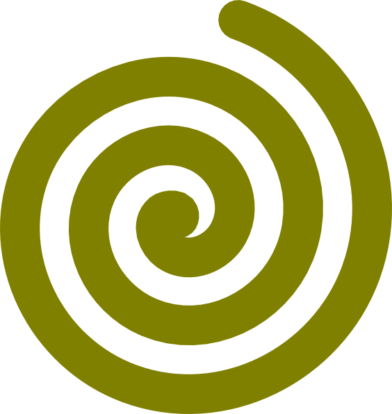564x596 Gold Spiral Clip Art