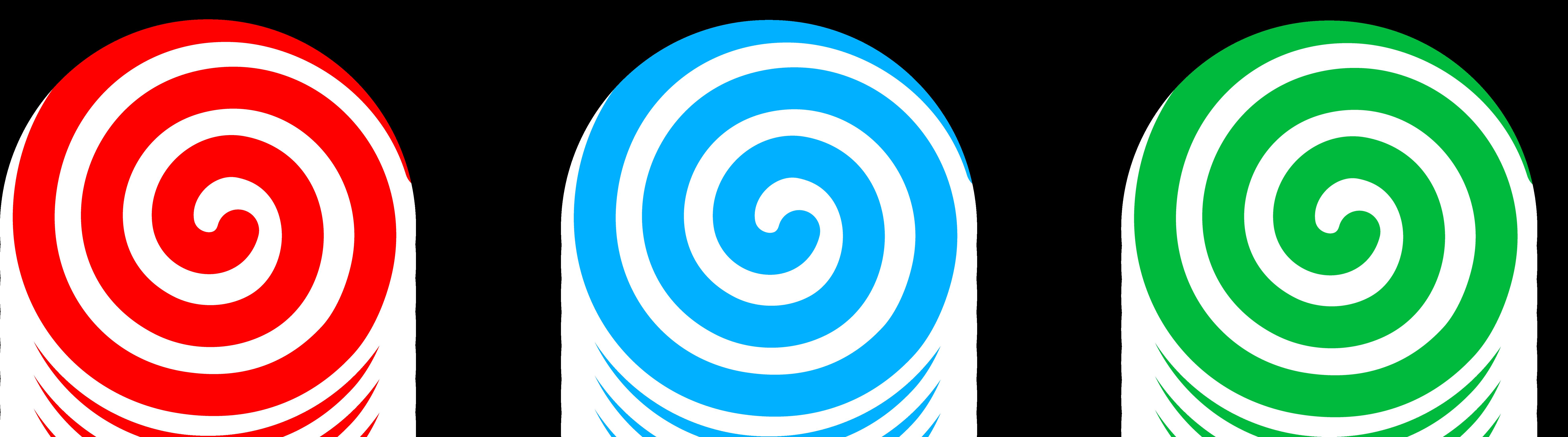 7807x2174 Spiral Candies Set Clip Art