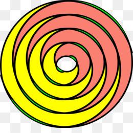 260x260 Spiral Circle Clip Art