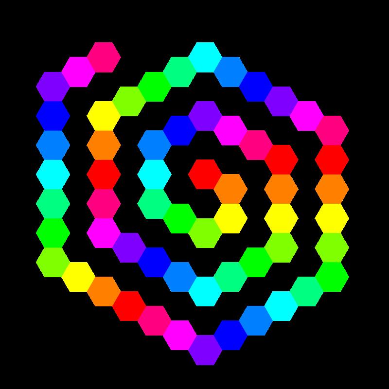 800x800 60 Hexagon Spiral Clip Art Download