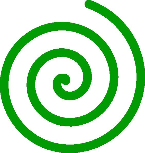 564x598 Spiral Green Clip Art