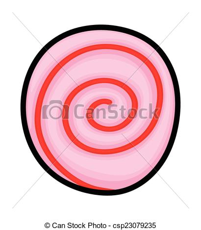 410x470 Spiral Candy. Abstract Spiral Tasty Pink Christmas Candy