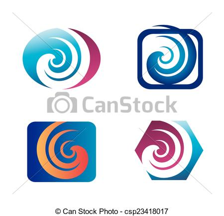 450x434 Spiral Design Elements Logo Vector Clip Art