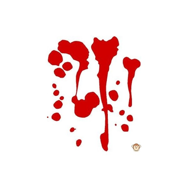 600x600 Blood Splatter Clipart