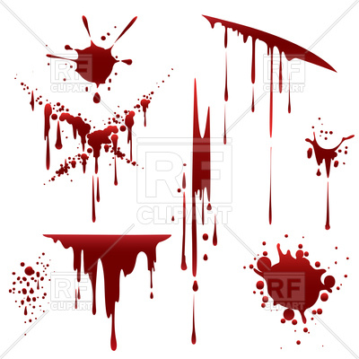 400x400 Bloody horror scruffy splatter Royalty Free Vector Clip Art Image