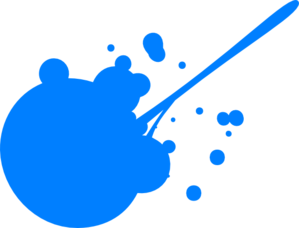 299x228 Blue Paint Splatter clip art Paint Spill and Splatter