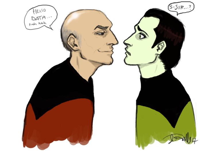 700x525 Picard And Data By Depplosion