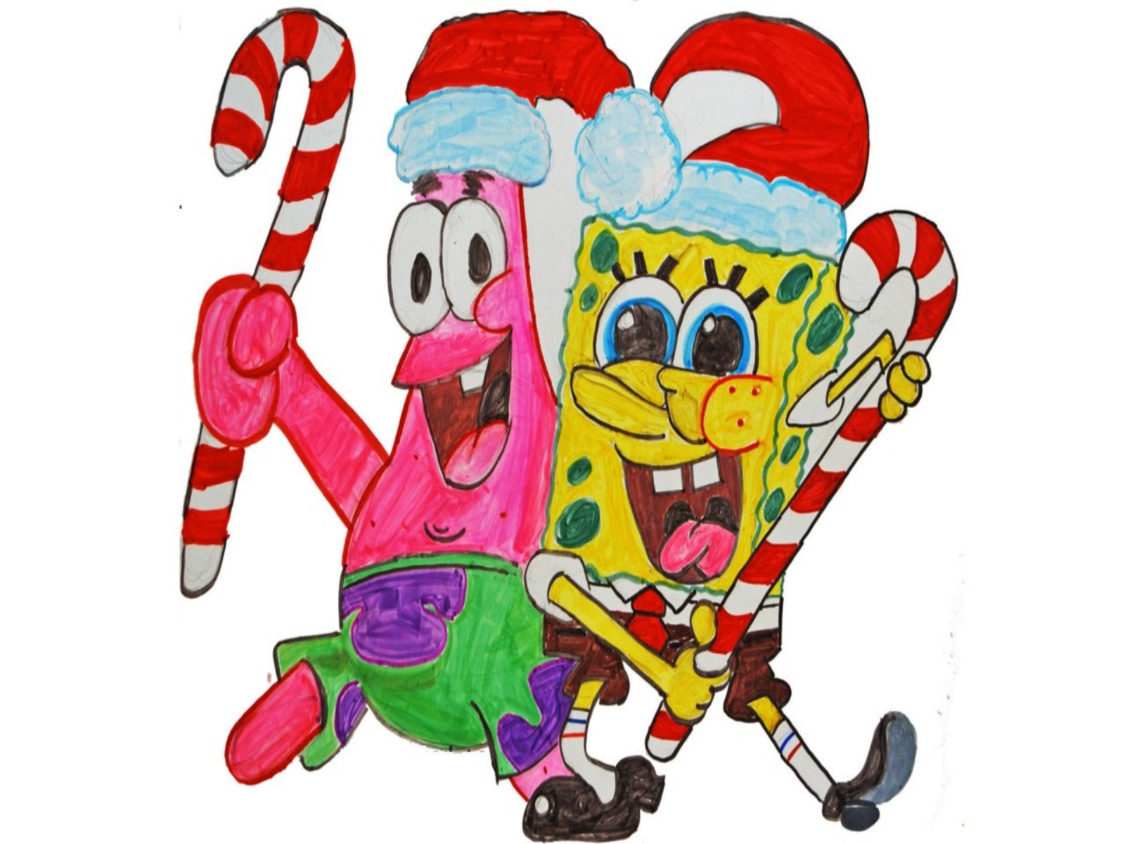 1600x1200 Spongebob Christmas Wallpapers Group