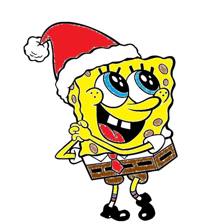 880x907 Spongebob Christmas By Missserbianjelena
