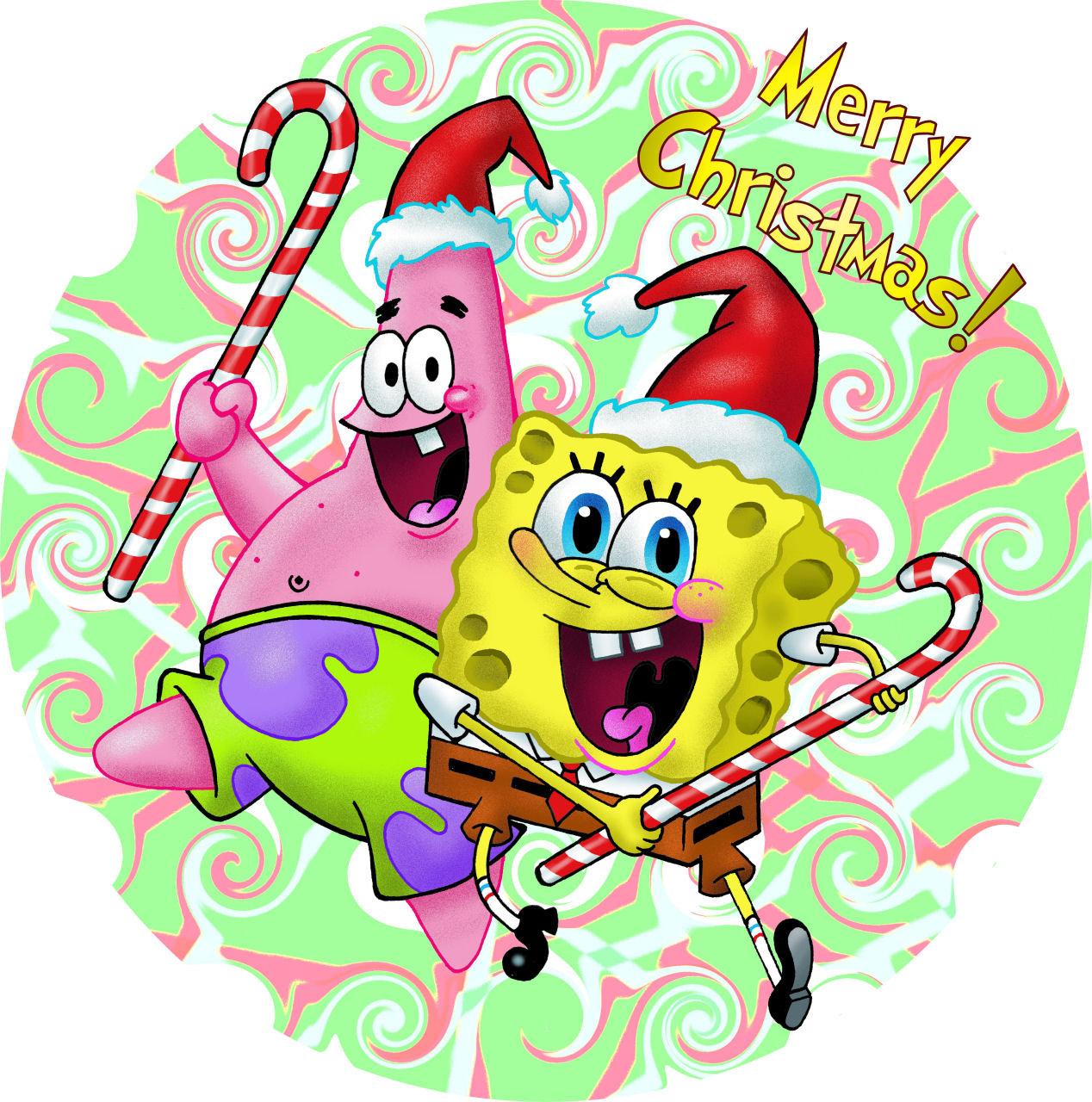 1268x1280 A Spongebob Christmas By Gjones1