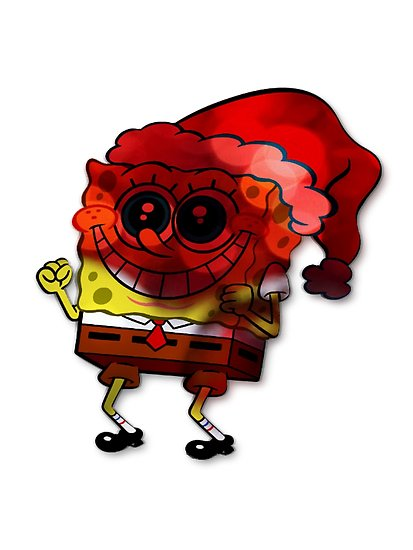 413x550 Christmas spongebob Posters by Sandis008 Redbubble