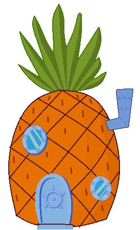 287x470 Pineapple Clipart Spongebobs