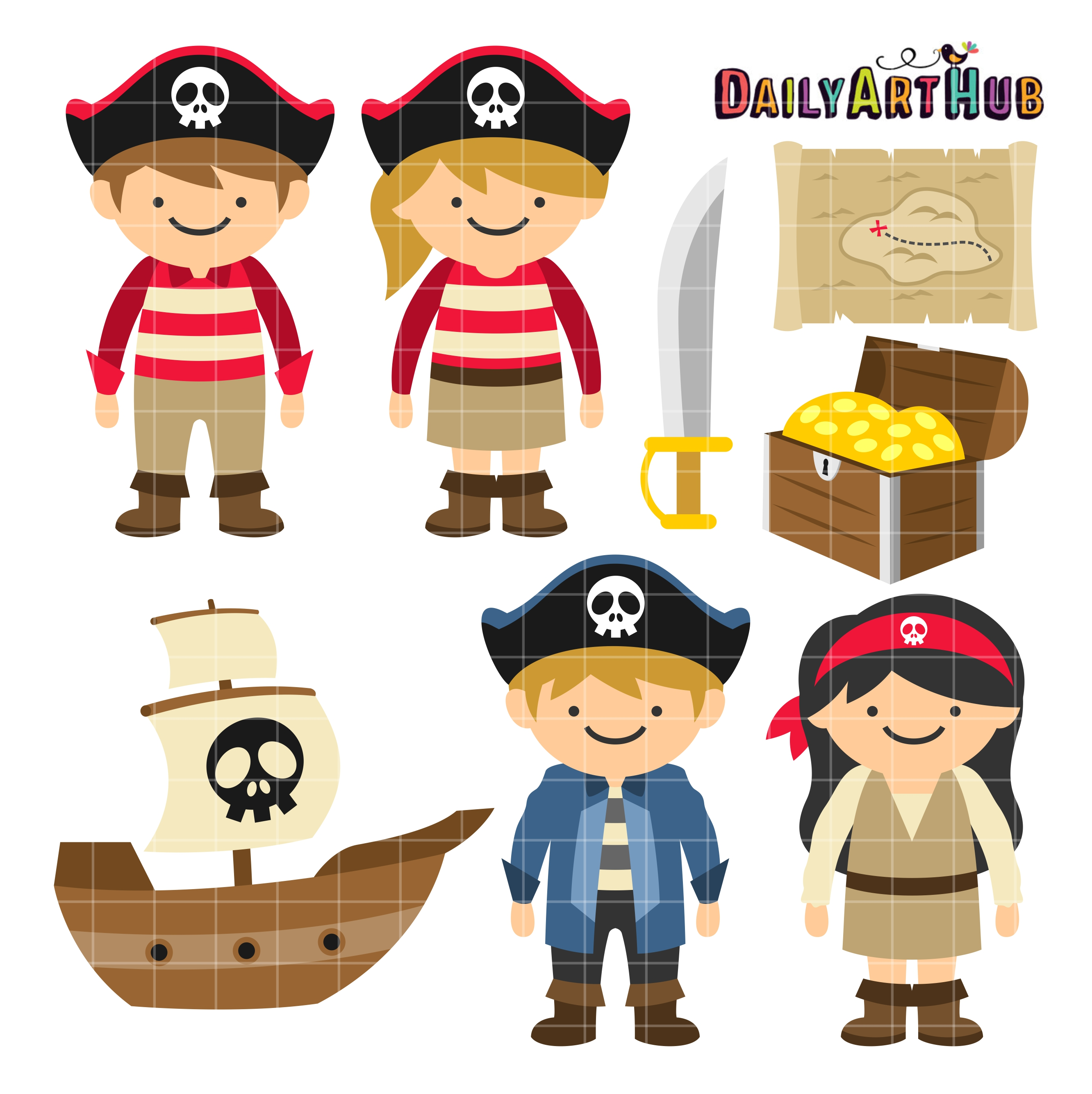 2664x2670 Bonanza Kids Pirate Pictures Clip Art Set Daily Hub Free Everyday