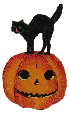236x385 Free Vintage Halloween Cat In Pumpkin Image All Kinds Of Craft