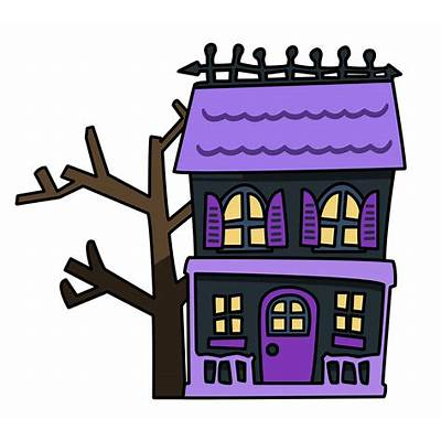 400x400 Haunted House Clipart Village