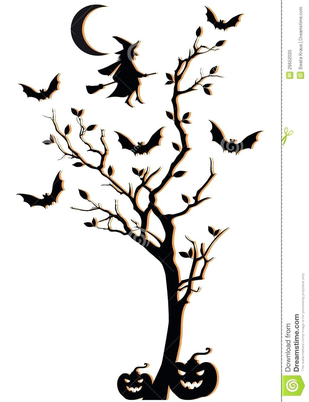 1000x1300 Halloween Tree Template Spooky Halloween Tree Template Scary