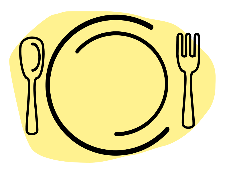 800x620 Free Clipart Dinner Plate With Spoon And Fork Iammisc