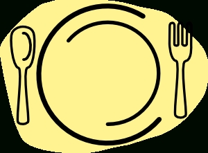 300x221 Iammisc Dinner Plate With Spoon And Fork Clip Art At Clker