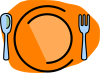 200x146 Plate, Fork, Spoon No Text Png, Svg Clip Art For Web