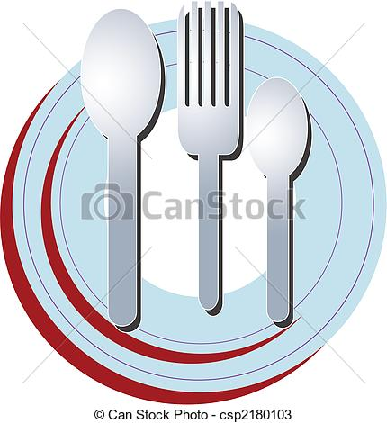 430x470 Plate Spoon Fork. A Set Of Plate And Spoons With Fork Ready