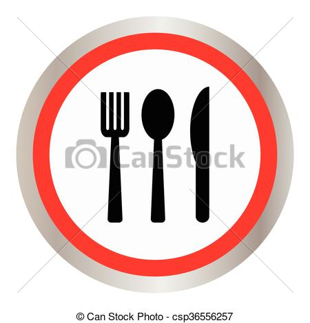 450x470 Spoon Fork And Knife On White Background Clipart Vector