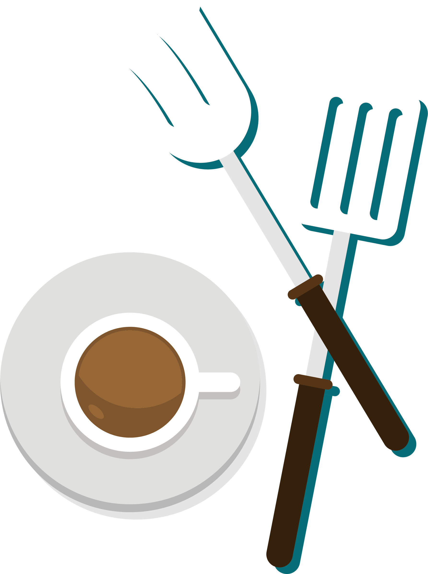 1785x2395 Coffee Fork Clip Art
