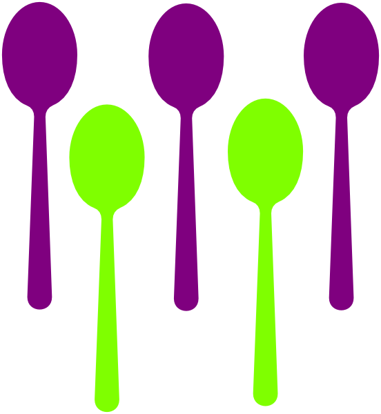 552x600 5 Spoons Purple Spoon And Clip Art