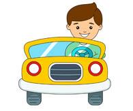 195x163 Man Driving Car Clipart