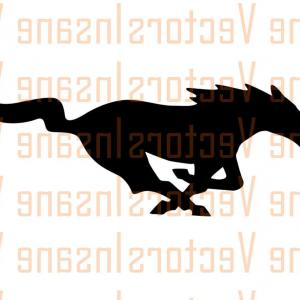300x300 Modern Pony Sports Car With White Racing Stripes Vector Clipart