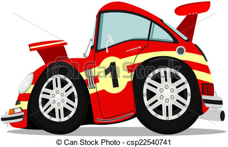 450x290 Sportscar. Funny Sports Car After Heavy Braking. Eps Vector