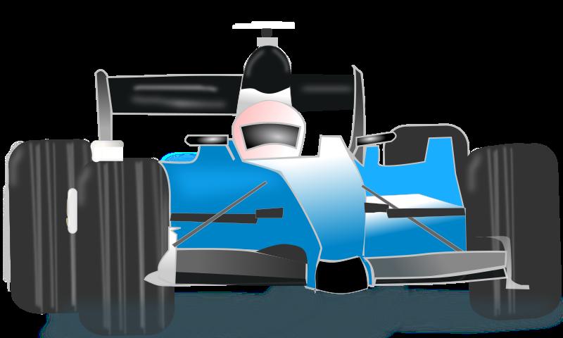800x480 Blue Race Car Clipart