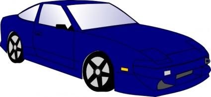425x195 Blue Sports Car Clipart