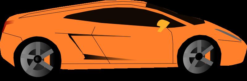 800x264 Car Clipart Orange Car