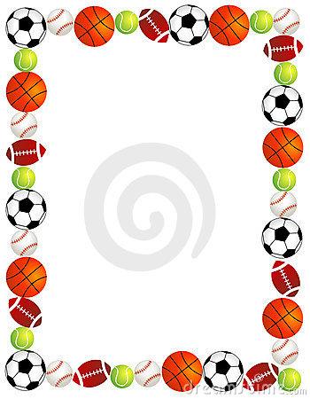 350x450 Sports Border Clip Art Animations