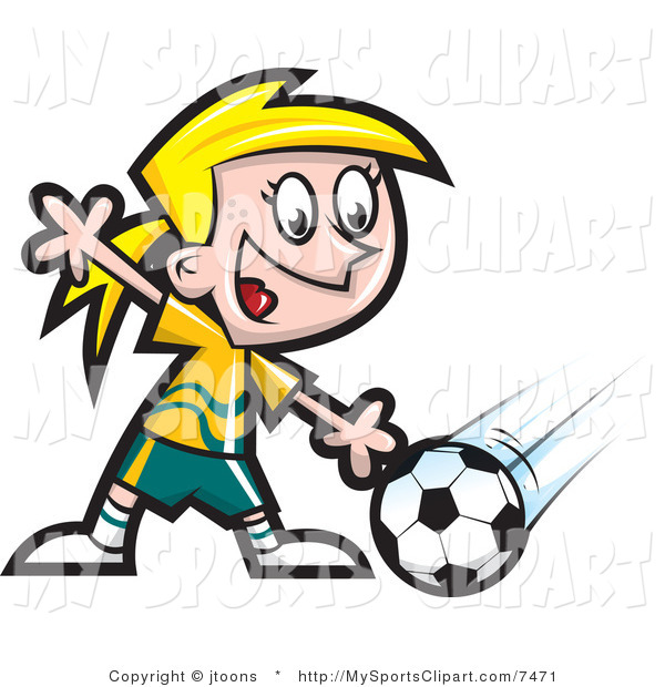 600x620 Sports Clip Art Of A Soccer Player By Jtoons