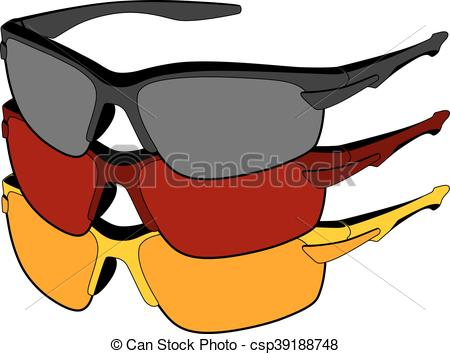 450x354 Sports Glasses In Vector On White Background Eps Vector