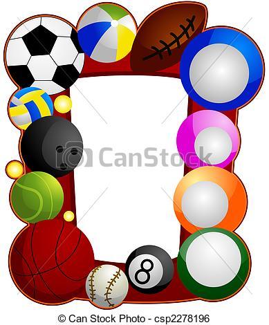 389x470 Ball Sports Frame Stock Illustration