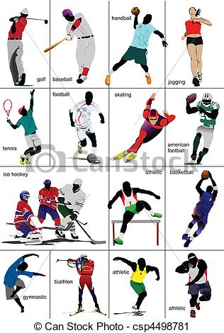 316x470 Some Kinds Of Sports. Collection. Colored Vector Vector Clip