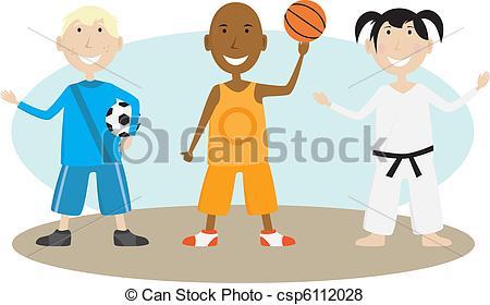 450x280 Children Playing Sports. Group Of Children Enjoying Various