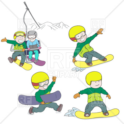 400x400 Kids Riding Snowboard