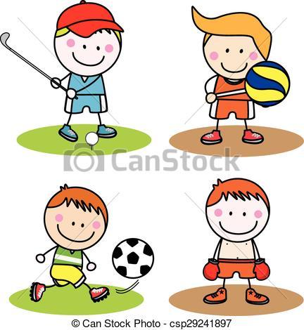 432x470 Kids Sport Collection Eps Vectors