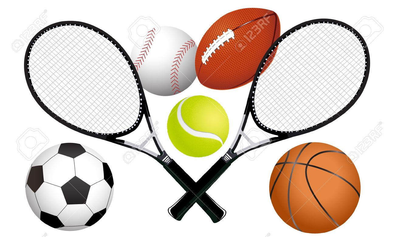 1300x779 Collection Of Sports Equipment Clipart High Quality, Free