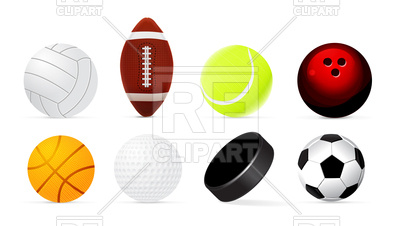 400x226 Sport Ball Set Royalty Free Vector Clip Art Image
