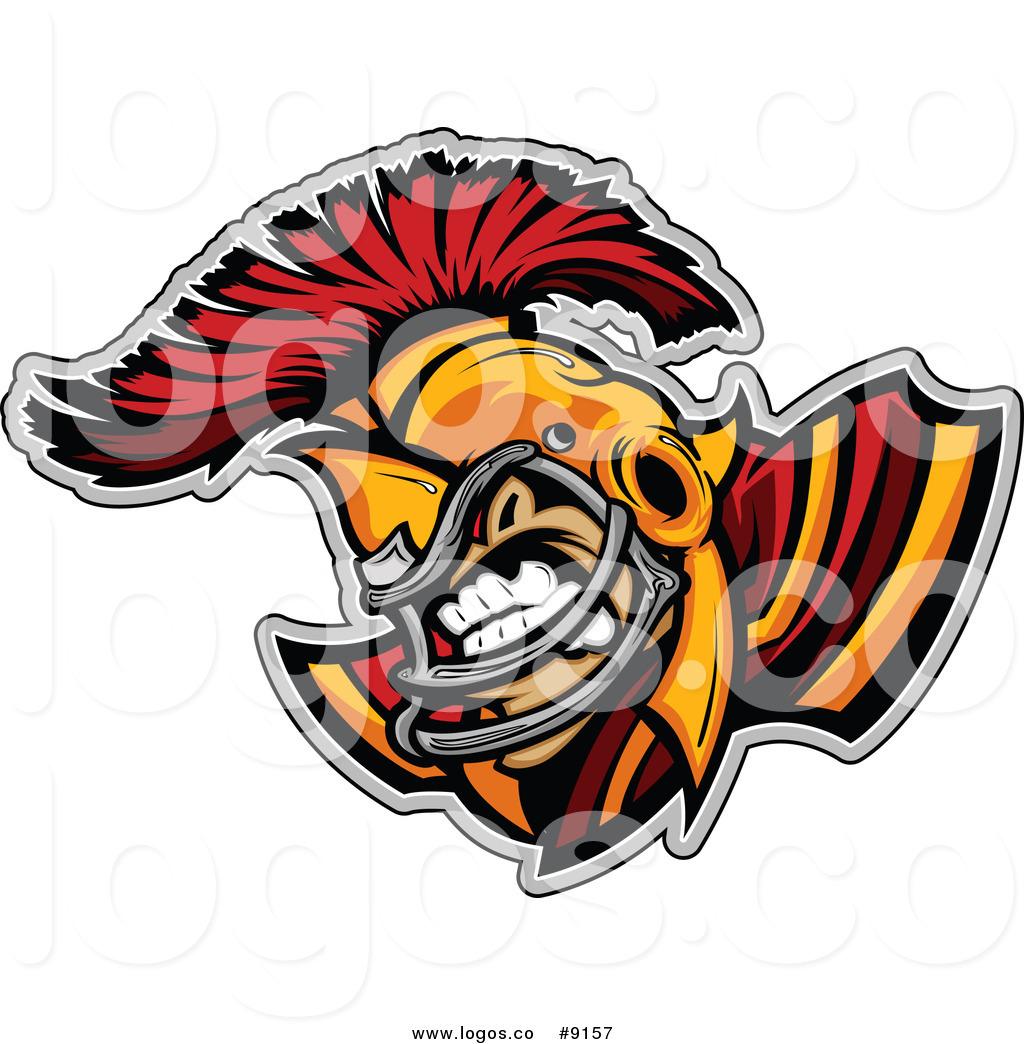 1024x1044 Royalty Free Clip Art Vector Aggressive Spartan Football Player