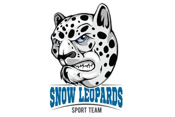 570x380 Snow Leopards Mascot Sports Team Clipart Vector Clip Art Graphics