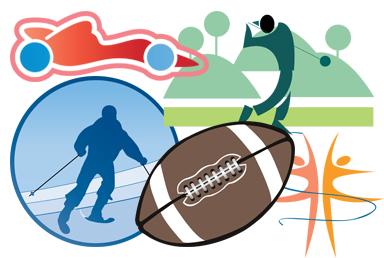 384x258 Sports Art Clipart