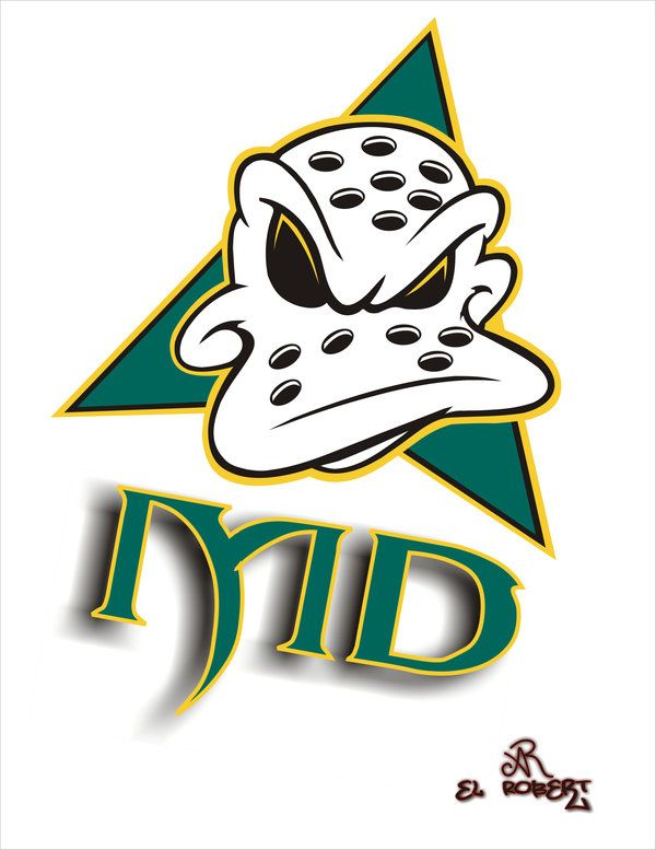 600x777 The Mighty Ducks Cartoon Logo By El Ralo Clipart